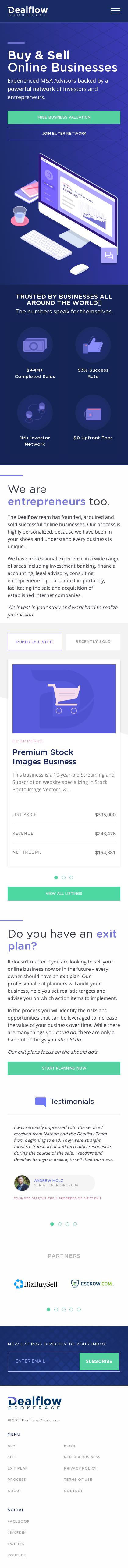 Example of Design for Finance, Investing, Mobile Landing Page by dealflowbrokerage.com | Mobile Landing Page Design