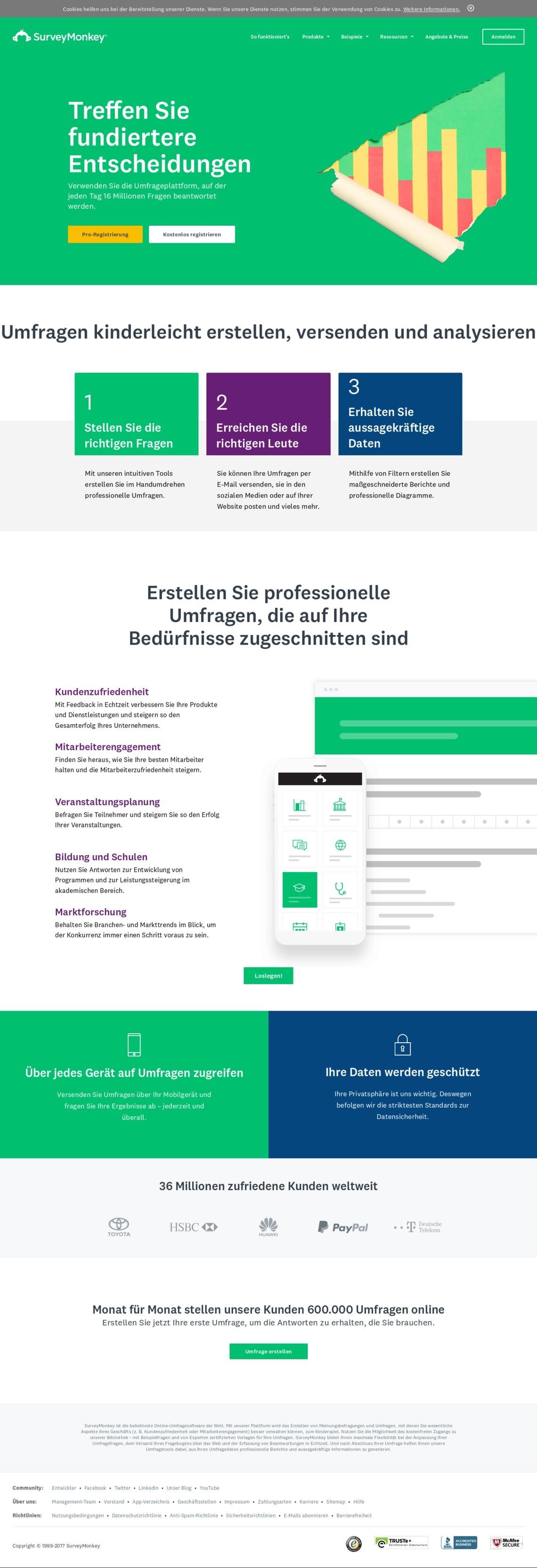 Erfolgreiche Landing Pages 15 Design Beispiele 15