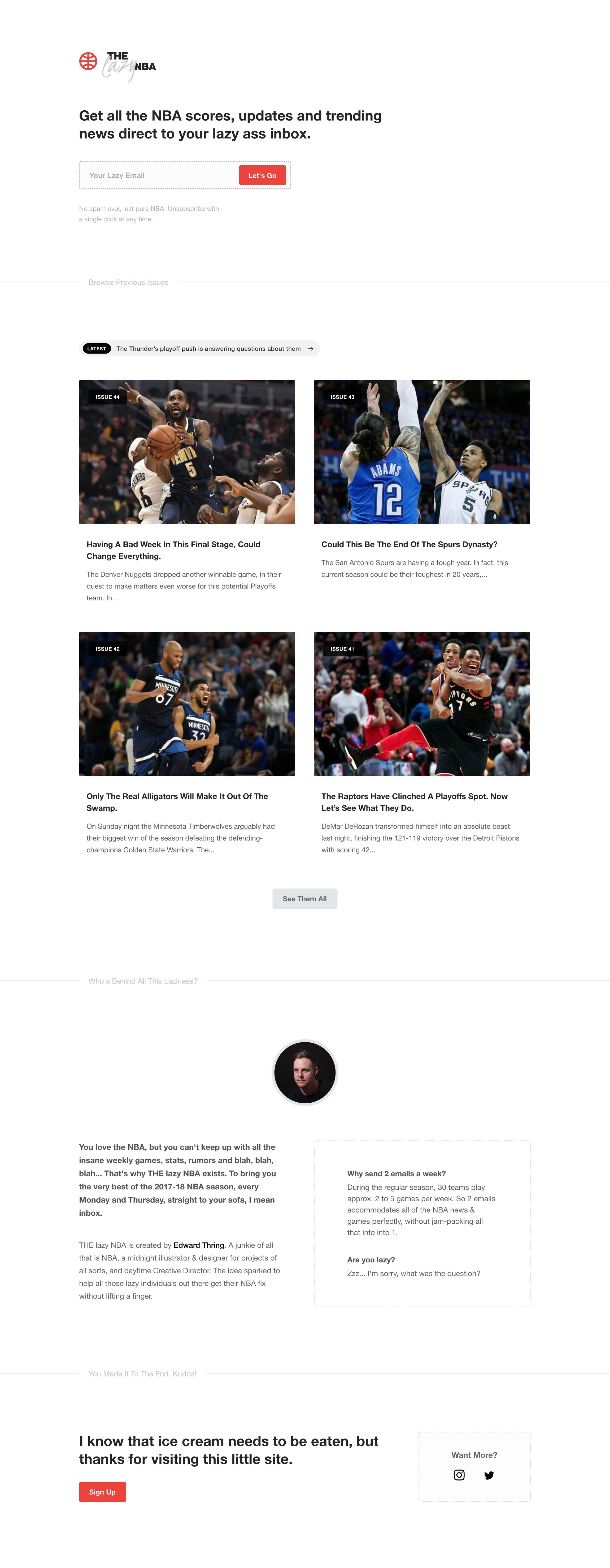 Example of Design for Sports, Team Sports, Basketball, Landing Page by thelazynba.com | Landing Page Design