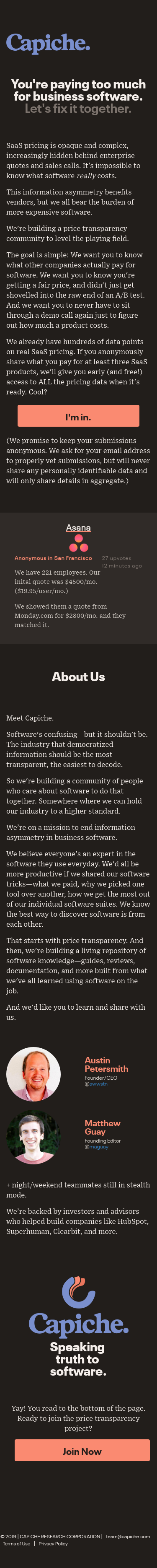 Example of Design for Computers & Electronics, Software, Business & Productivity Software, Mobile Landing Page by capiche.com | Mobile Landing Page Design