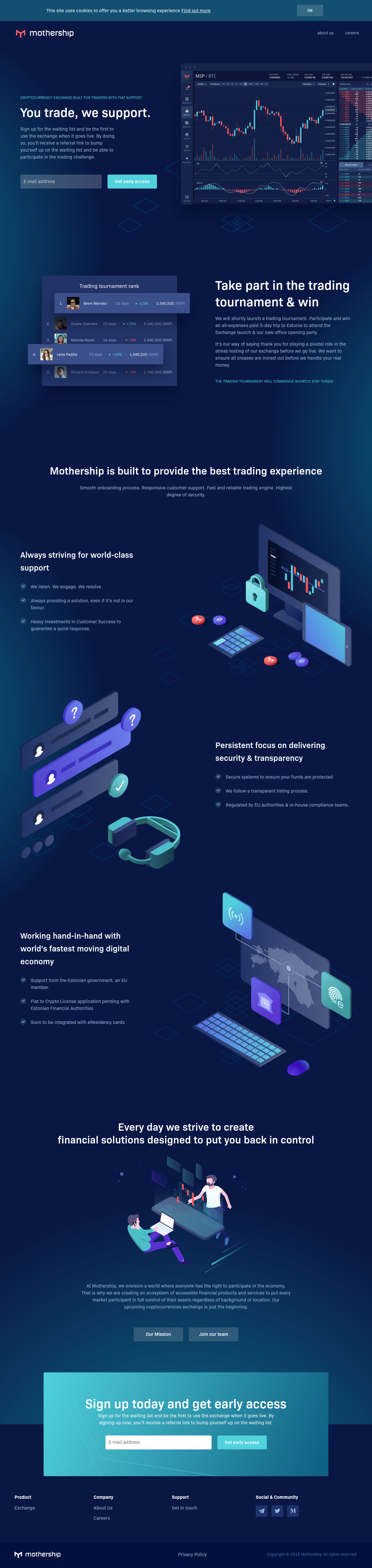 Example of Design for Finance, Investing, Landing Page by mothership.cx | Landing Page Design