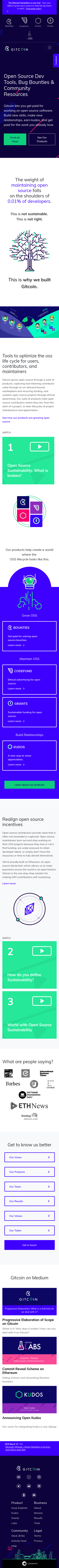 Example of Design for Business & Industrial, Mobile Landing Page by gitcoin.co | Mobile Landing Page Design