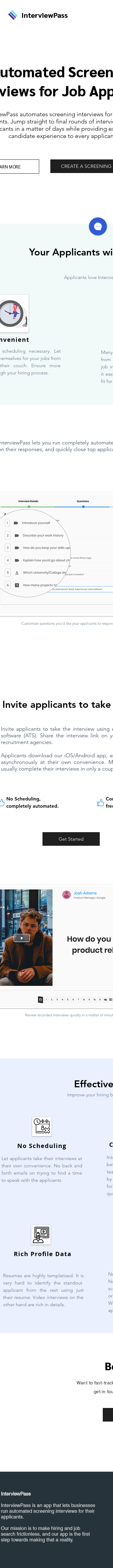 Example of Design for Jobs & Education, Jobs, Mobile Landing Page by interviewpass.co   Mobile Landing Page Design