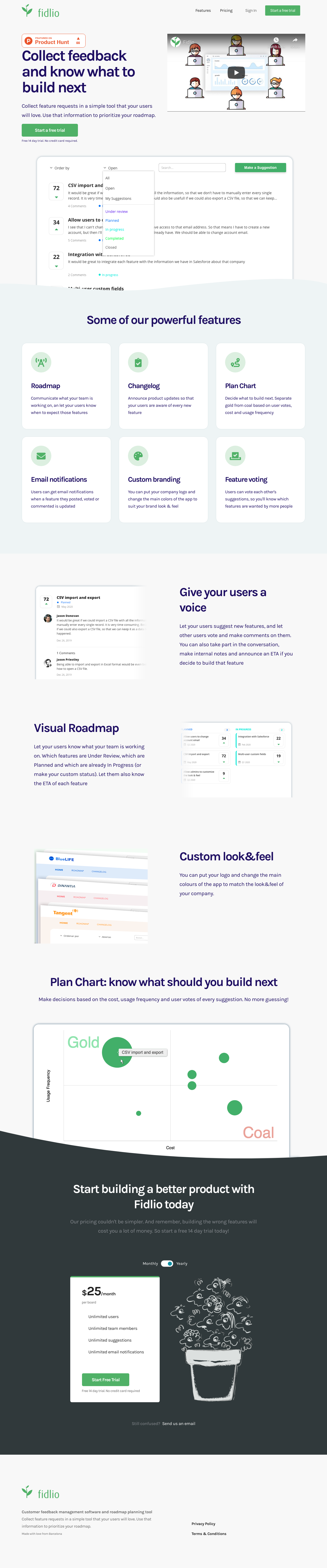 Example of Design for Computers & Electronics, Software, Landing Page by fidlio.com   Landing Page Design