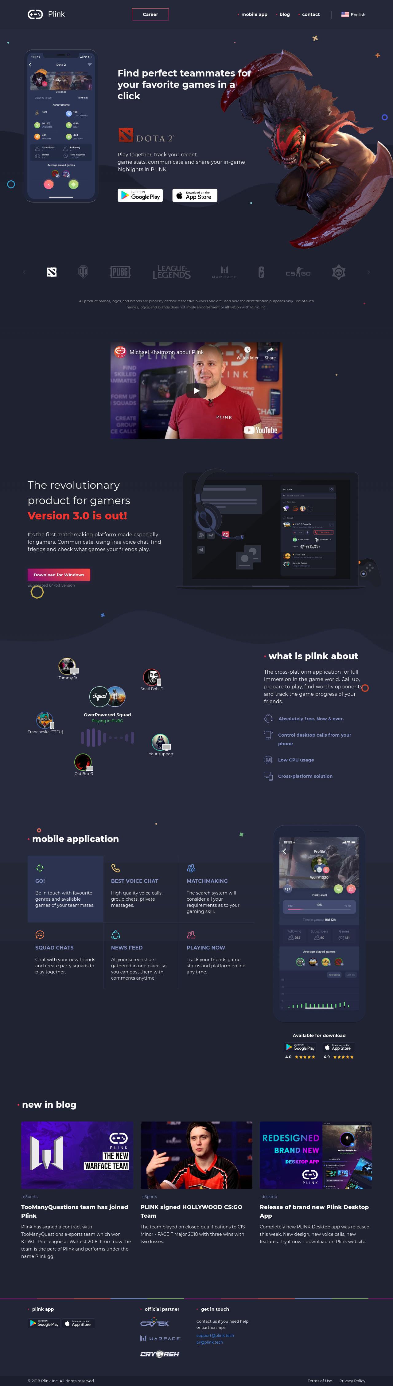 Best Landing Page Inspiration : plink gg