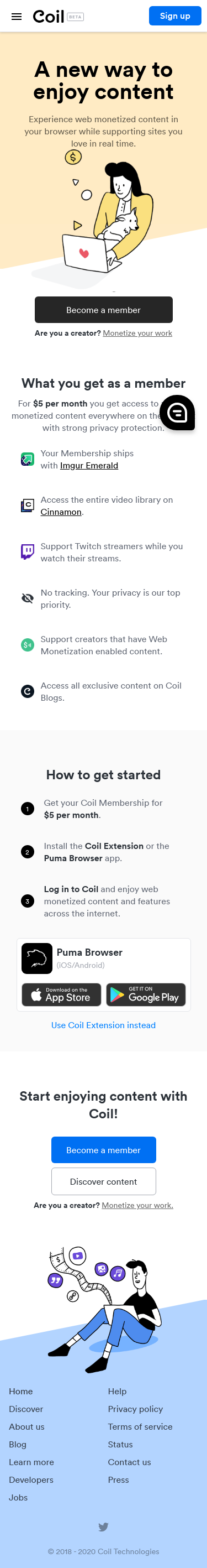 Example of Design for Uncategorized, Mobile Landing Page by coil.com | Mobile Landing Page Design