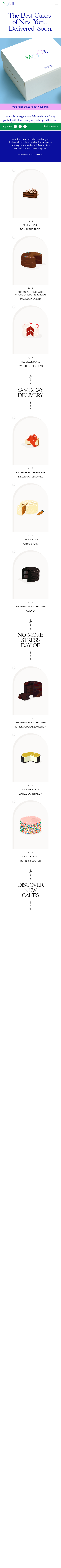 Example of Design for Food & Drink, Food, Baked Goods, Mobile Landing Page by moondeliverscakes.com | Mobile Landing Page Design