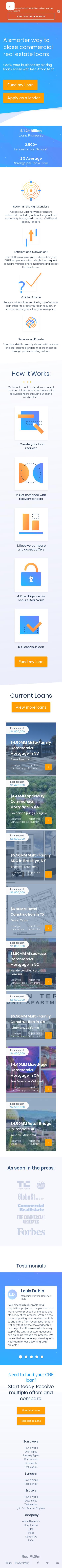 Example of Design for Finance, Credit & Lending, Loans, Mobile Landing Page by realatom.com | Mobile Landing Page Design
