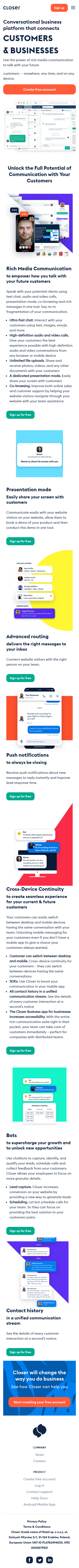 Example of Design for Uncategorized, Mobile Landing Page by closer.app | Mobile Landing Page Design