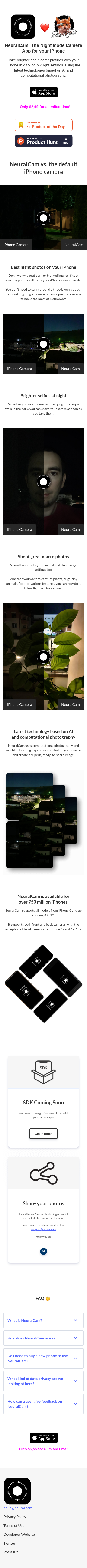 Example of Design for Internet & Telecom, Mobile & Wireless, Mobile Apps & Add-Ons, Mobile Landing Page by neural.cam   Mobile Landing Page Design