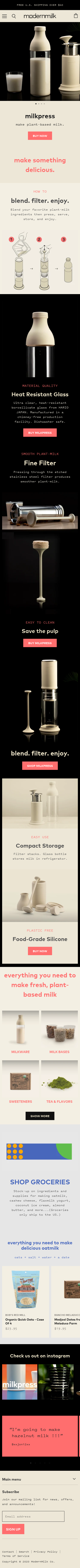 Example of Design for Food & Drink, Food, Mobile Landing Page by modernmilk.co | Mobile Landing Page Design