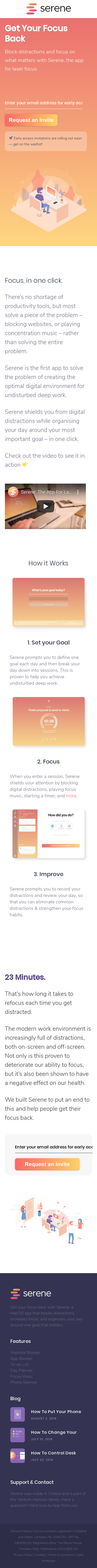 Example of Design for Uncategorized, Mobile Landing Page by sereneapp.com | Mobile Landing Page Design