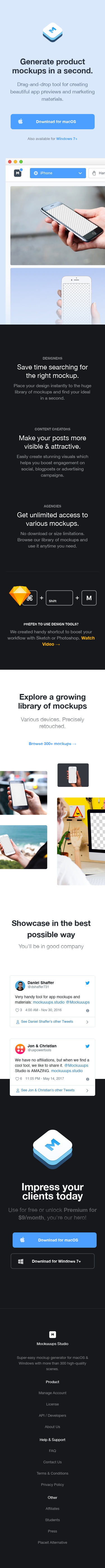 Example of Design for Computers & Electronics, Software, Mobile Landing Page by mockuuups.studio | Mobile Landing Page Design