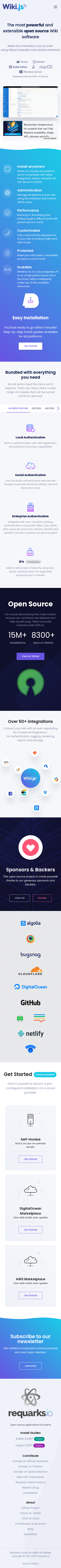Example of Design for Computers & Electronics, Programming, Mobile Landing Page by wiki.js.org | Mobile Landing Page Design