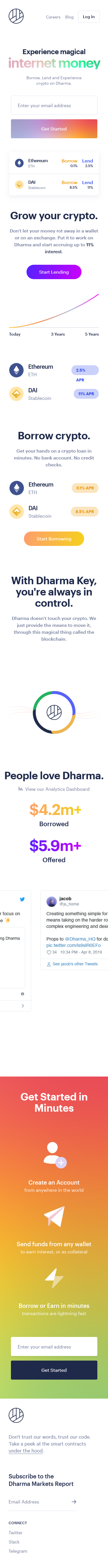 Example of Design for Finance, Banking, Mobile Landing Page by dharma.io   Mobile Landing Page Design