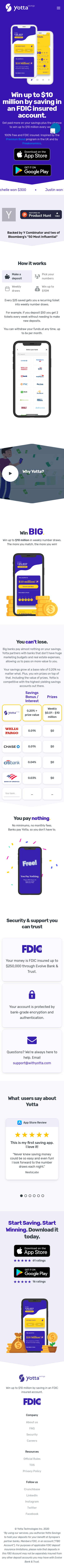 Example of Design for Finance, Banking, Mobile Landing Page by withyotta.com | Mobile Landing Page Design