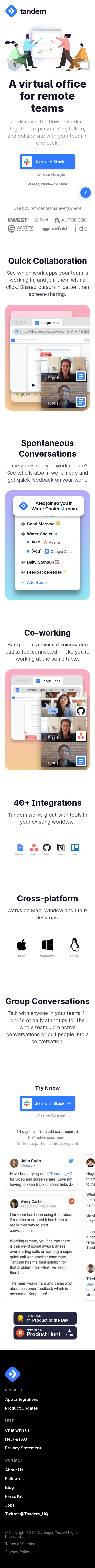 Example of Design for Computers & Electronics, Software, Business & Productivity Software, Mobile Landing Page by tandem.chat | Mobile Landing Page Design