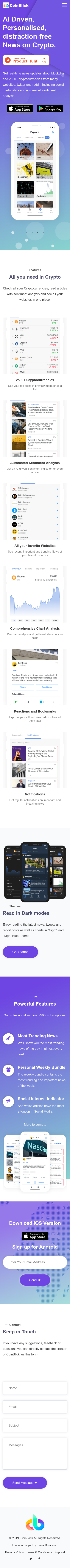 Example of Design for Finance, Investing, Currencies & Foreign Exchange, Mobile Landing Page by coinblick.com | Mobile Landing Page Design