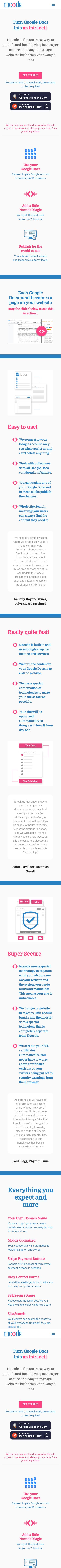 Example of Design for Internet & Telecom, Web Services, Web Design & Development, Mobile Landing Page by nocode.works | Mobile Landing Page Design