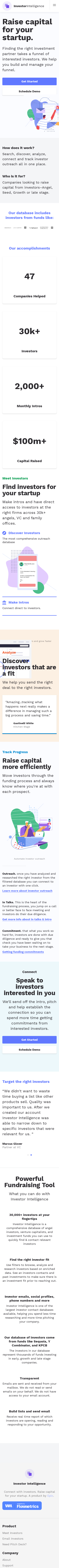 Example of Design for Business & Industrial, Business Finance, Venture Capital, Mobile Landing Page by investorintelligence.io | Mobile Landing Page Design
