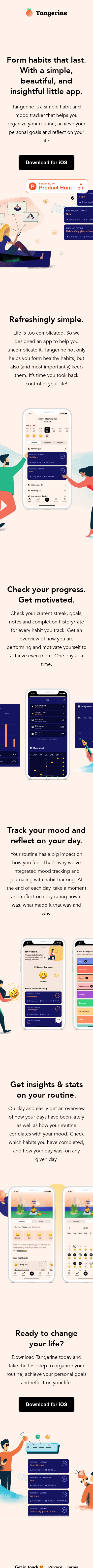 Example of Design for People & Society, Mobile Landing Page by tangerine.app | Mobile Landing Page Design