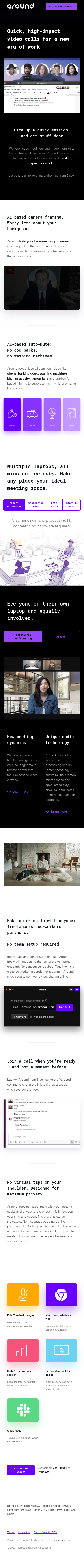 Example of Design for Computers & Electronics, Software, Mobile Landing Page by around.co | Mobile Landing Page Design