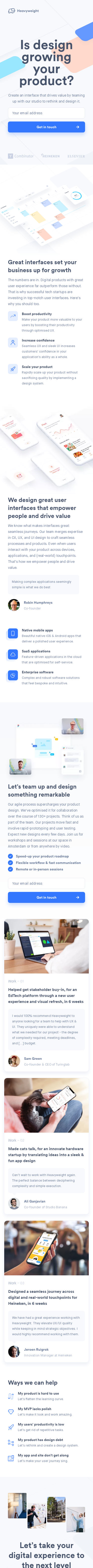 Example of Design for Computers & Electronics, Software, Business & Productivity Software, Mobile Landing Page by heavyweight.nl | Mobile Landing Page Design