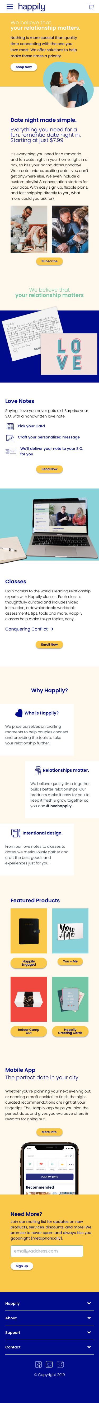 Example of Design for People & Society, Family & Relationships, Mobile Landing Page by thehappily.co   Mobile Landing Page Design