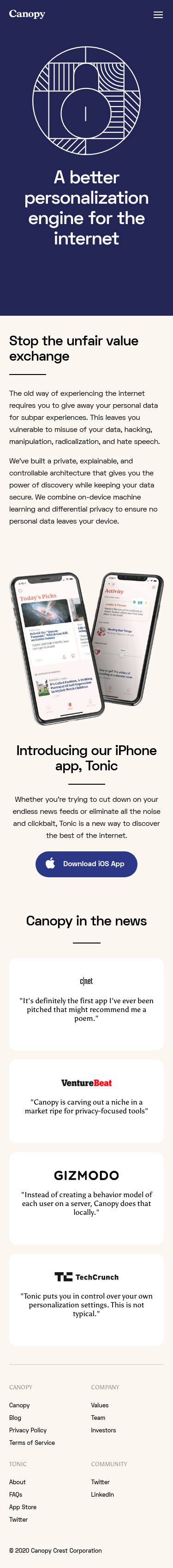 Example of Design for Uncategorized, Mobile Landing Page by canopy.cr | Mobile Landing Page Design