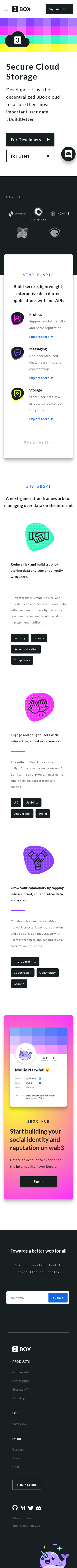 Example of Design for Internet & Telecom, Web Services, Mobile Landing Page by 3box.io | Mobile Landing Page Design