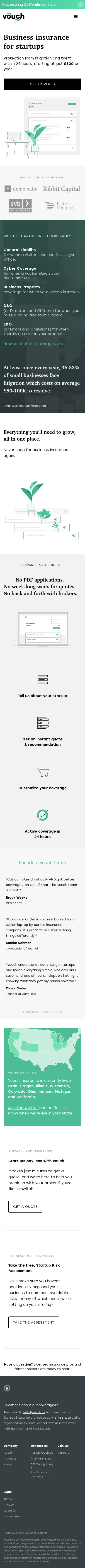 Example of Design for Finance, Insurance, Mobile Landing Page by vouch.us | Mobile Landing Page Design