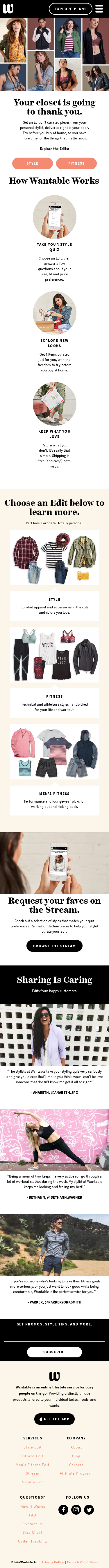 Example of Design for Beauty & Fitness, Mobile Landing Page by wantable.com | Mobile Landing Page Design