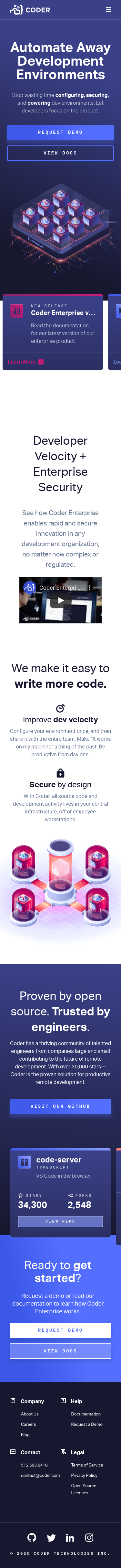 Example of Design for Computers & Electronics, Programming, Mobile Landing Page by coder.com-V2 | Mobile Landing Page Design