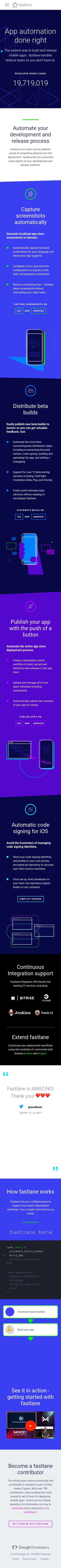 Example of Design for Computers & Electronics, Programming, Mobile Landing Page by fastlane.tools   Mobile Landing Page Design