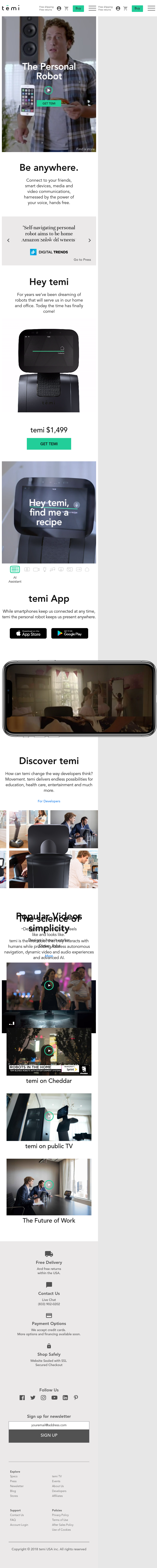 Example of Design for Uncategorized, Mobile Landing Page by robotemi.com   Mobile Landing Page Design