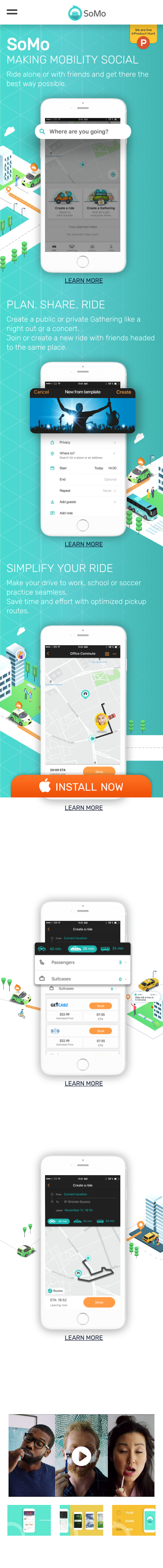 Example of Design for Uncategorized, Mobile Landing Page by somo.com | Mobile Landing Page Design