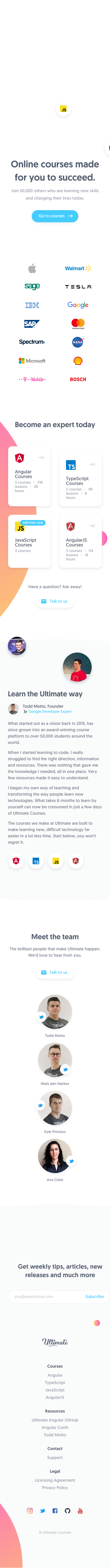 Example of Design for Jobs & Education, Education, Mobile Landing Page by ultimatecourses.com | Mobile Landing Page Design