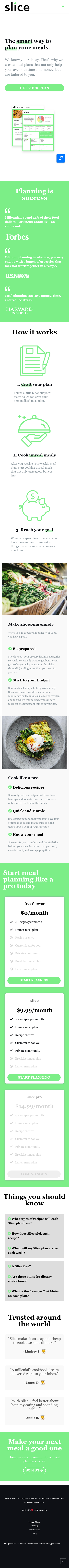 Example of Design for Food & Drink, Cooking & Recipes, Mobile Landing Page by getslice.co   Mobile Landing Page Design