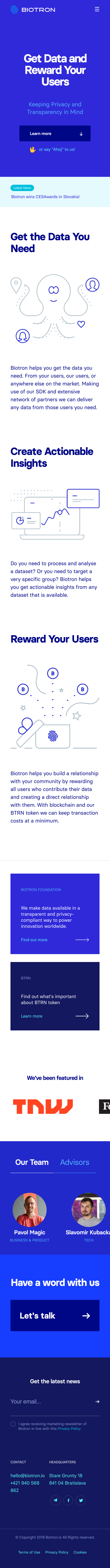 Example of Design for Business & Industrial, Mobile Landing Page by biotron.io | Mobile Landing Page Design