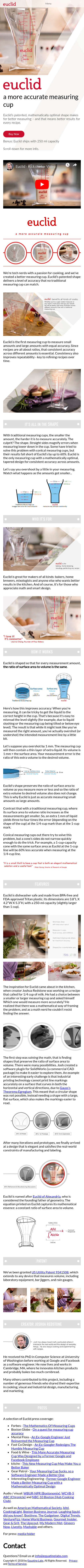 Example of Design for Science, Mobile Landing Page by euclidmeasuring.com | Mobile Landing Page Design