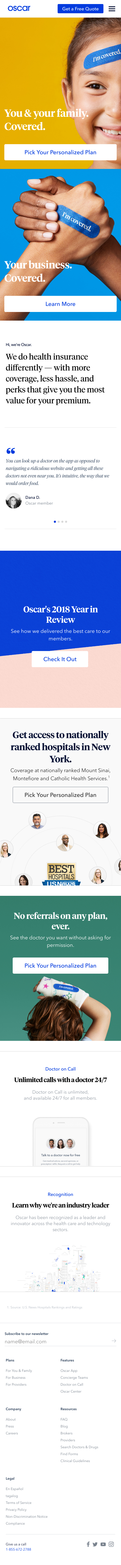 Example of Design for Health, Mobile Landing Page by hioscar.com-V2 | Mobile Landing Page Design