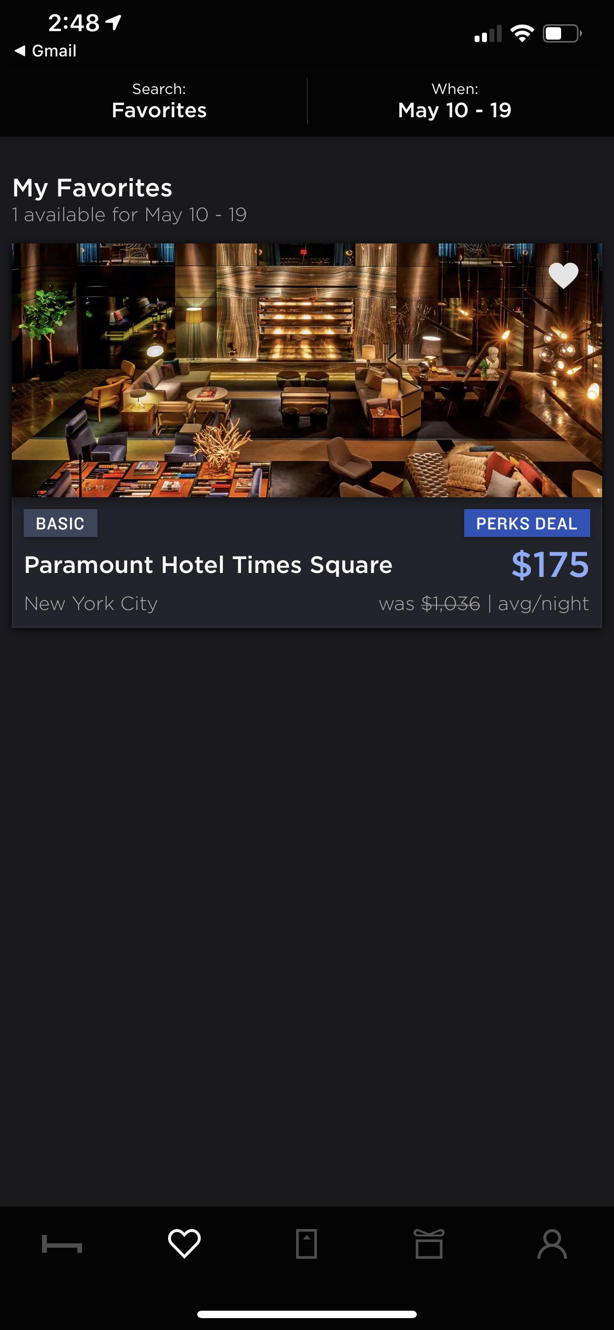 HotelTonight (iPhone X)