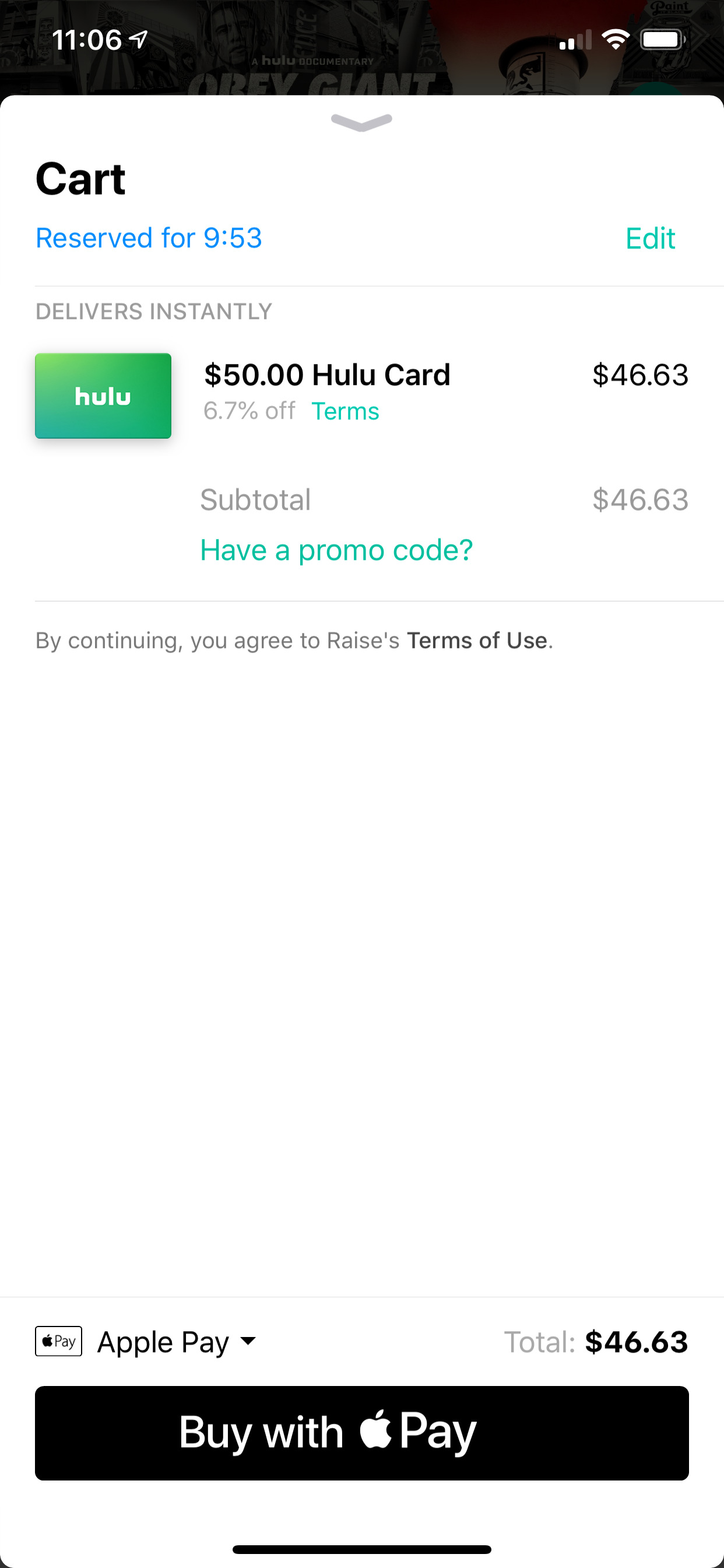 Raise (iPhone X)