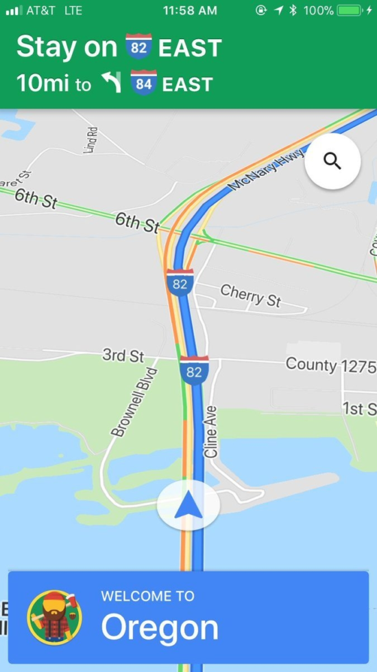 """""""Crossing State Lines"""" by Google Maps 