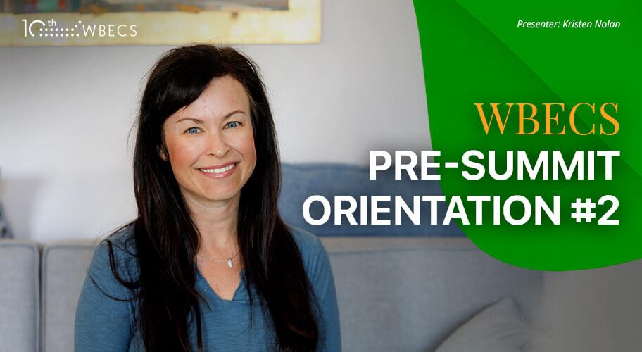 WBECS Pre-Summit Orientation 2 Photo