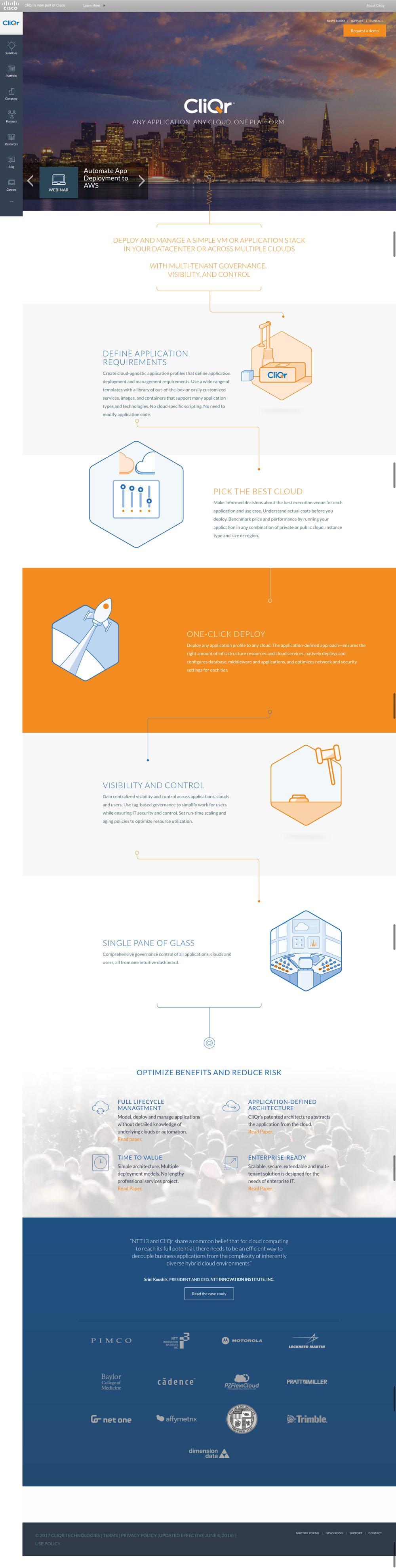 Cliqr Website Design