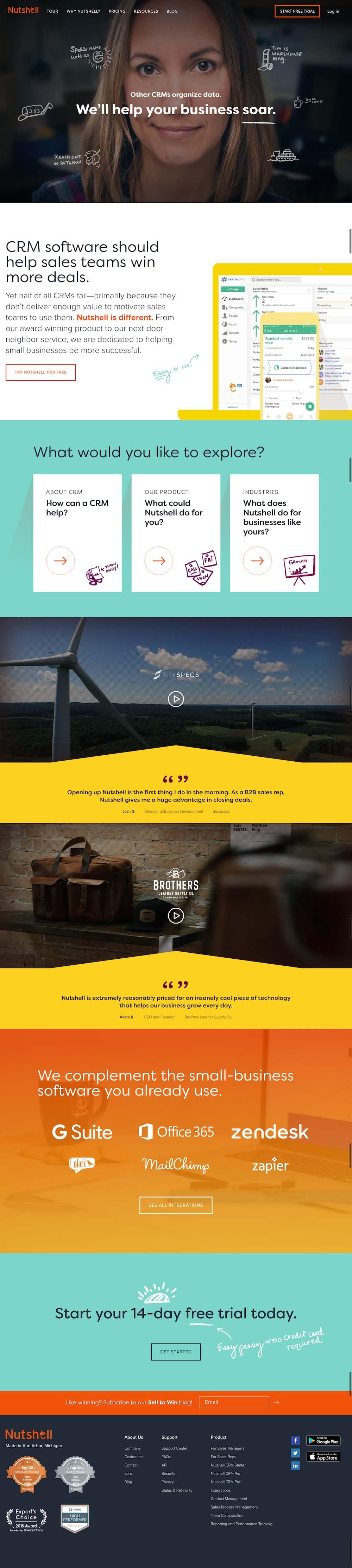 NutShell Website Design