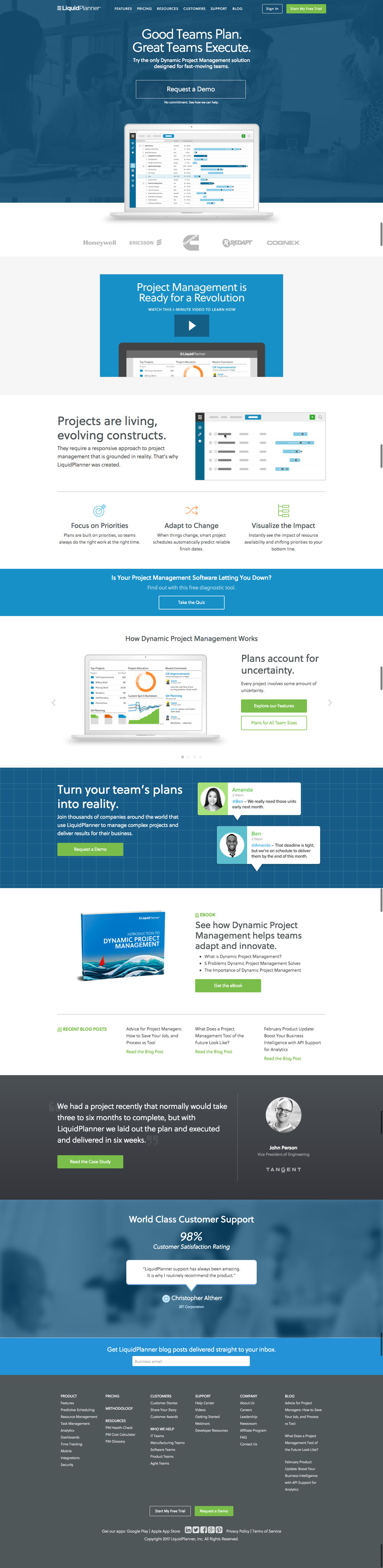 LiquidPlanner Website Design