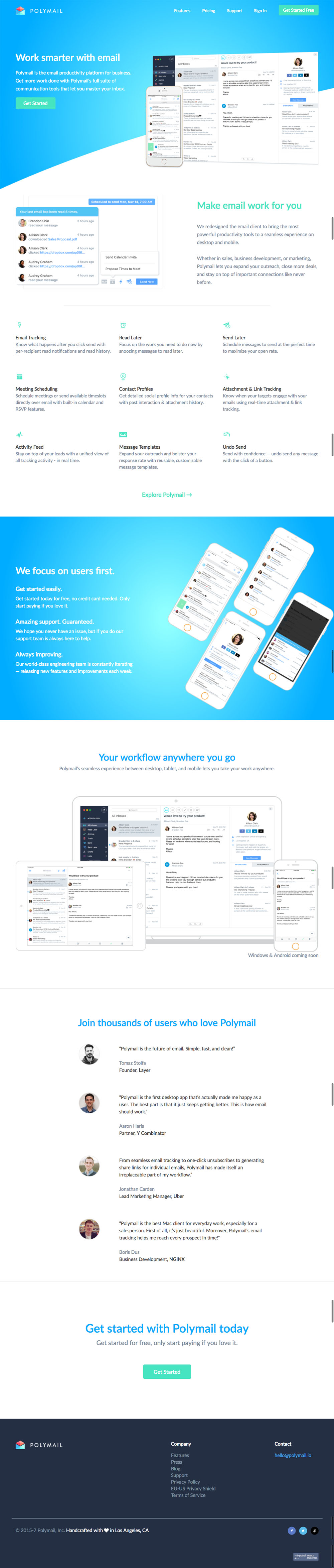 PolyMail Website Design