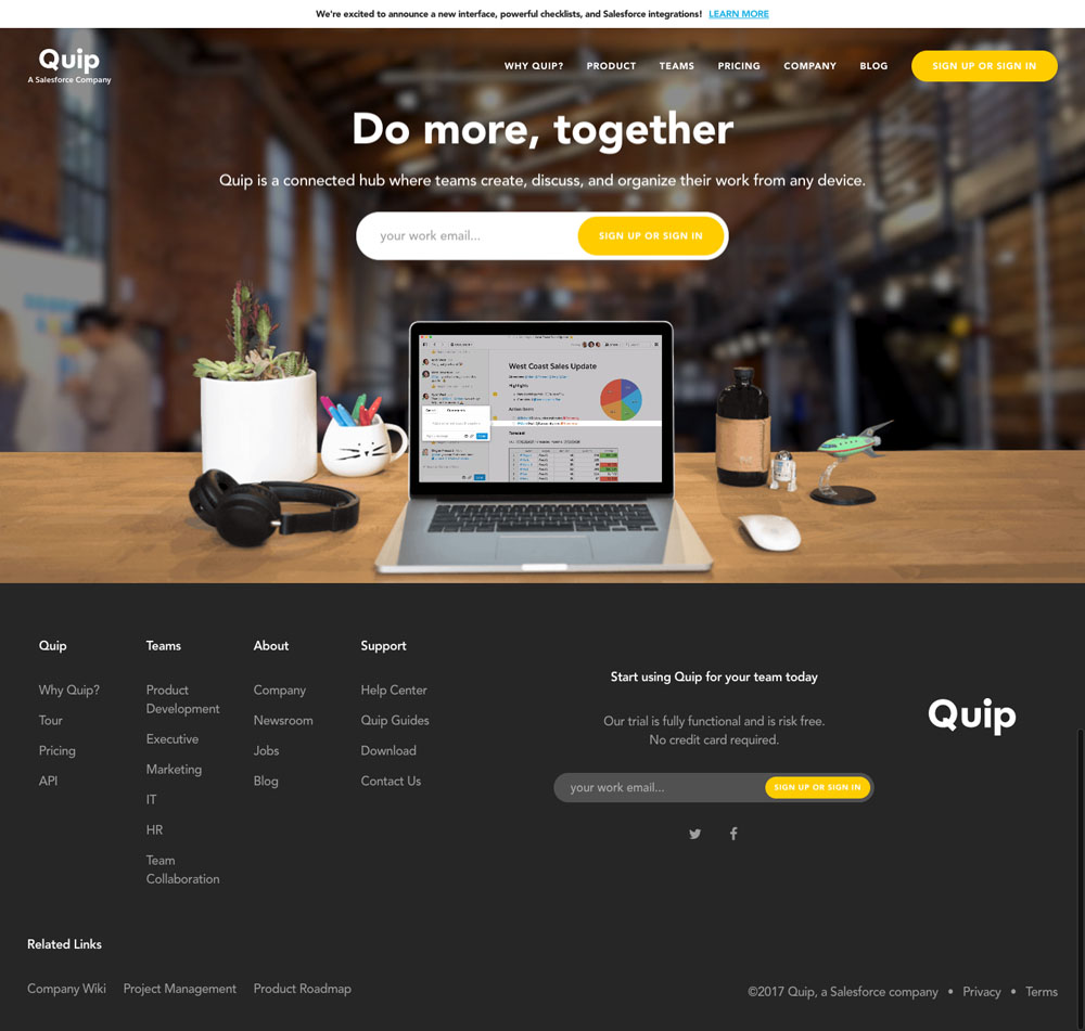 Quip Website Design